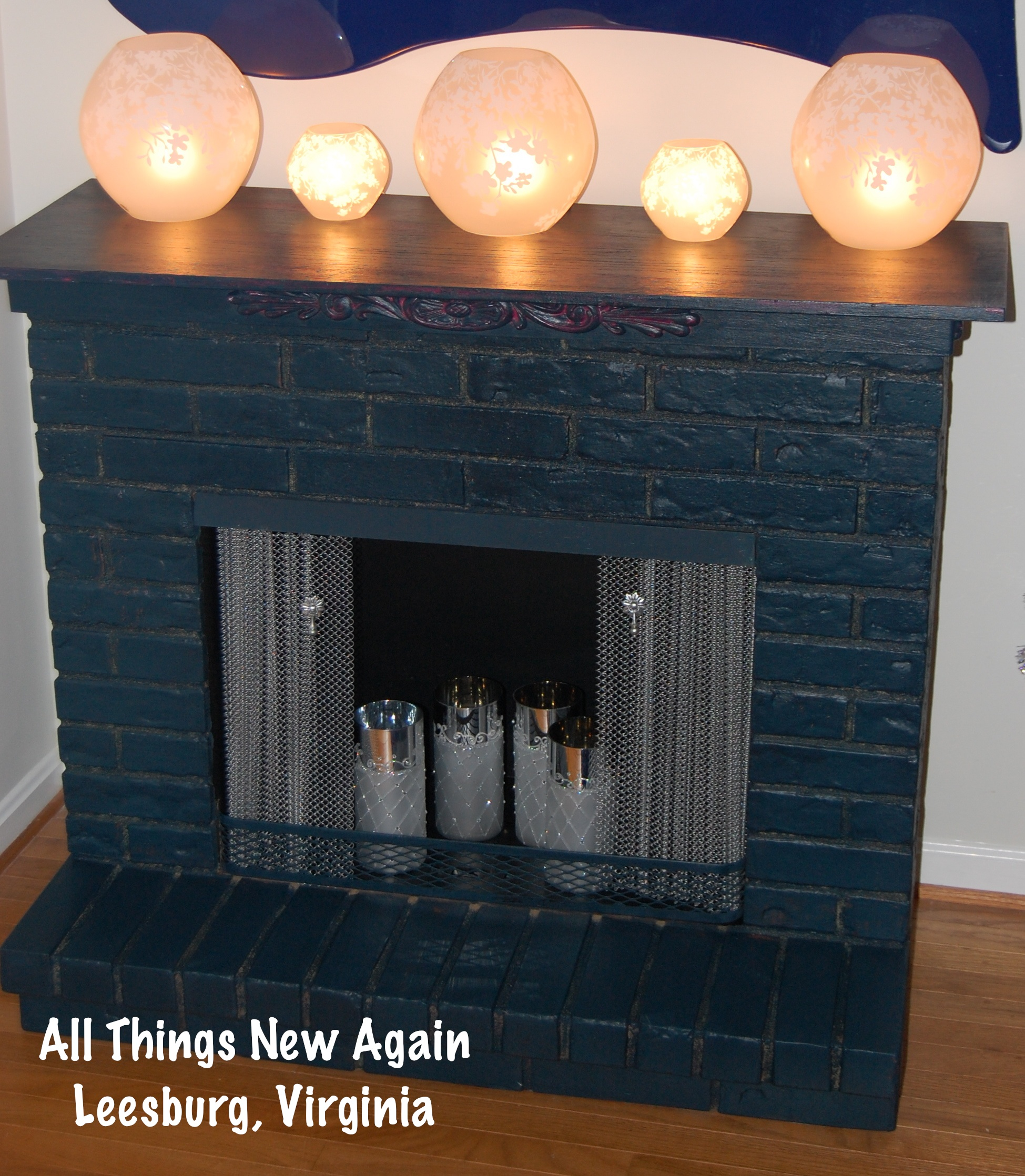 a christmas makeover for an outdated faux fireplace all things