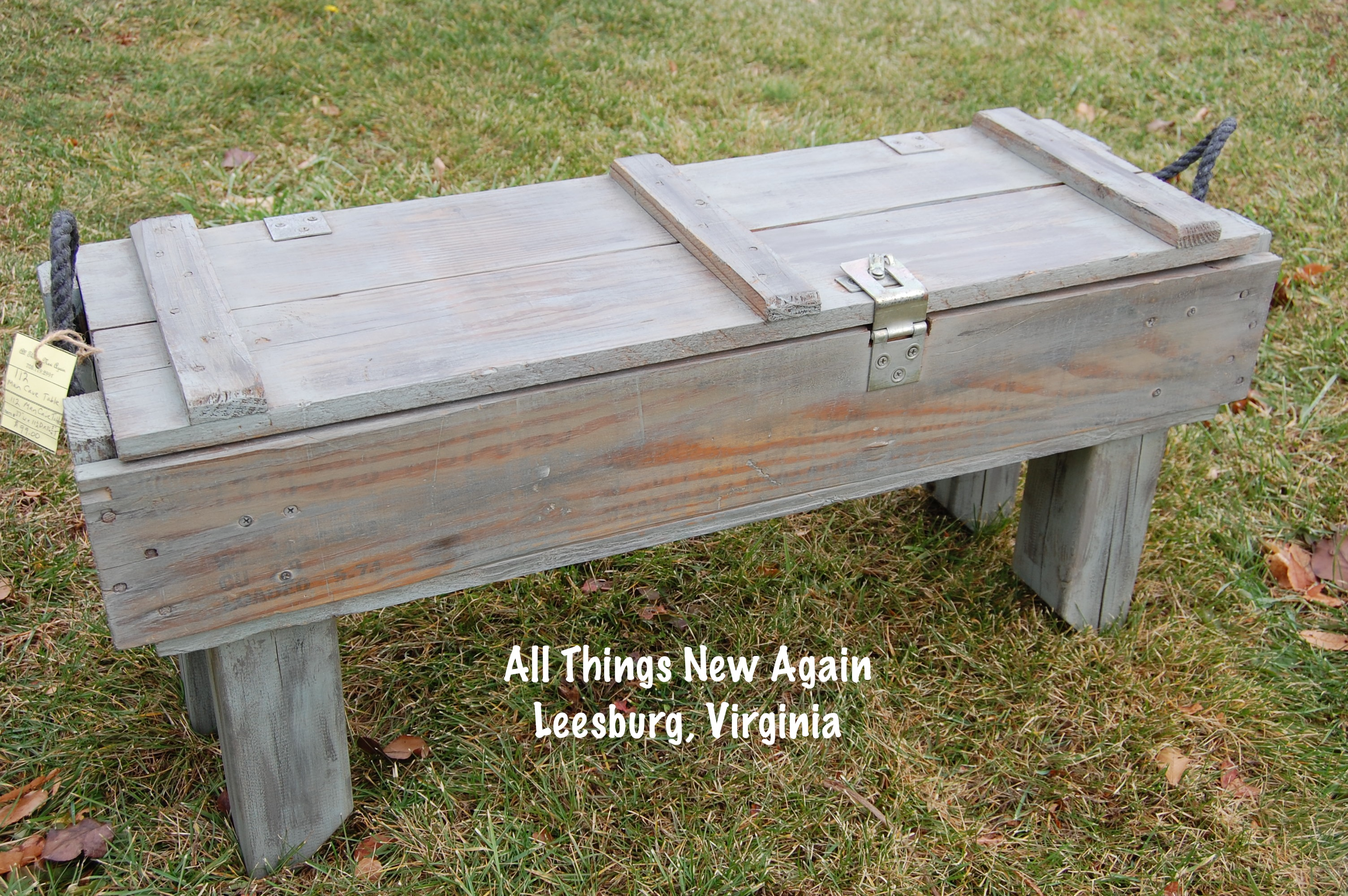 Man cave coffee table all things new again for Man cave coffee table ideas
