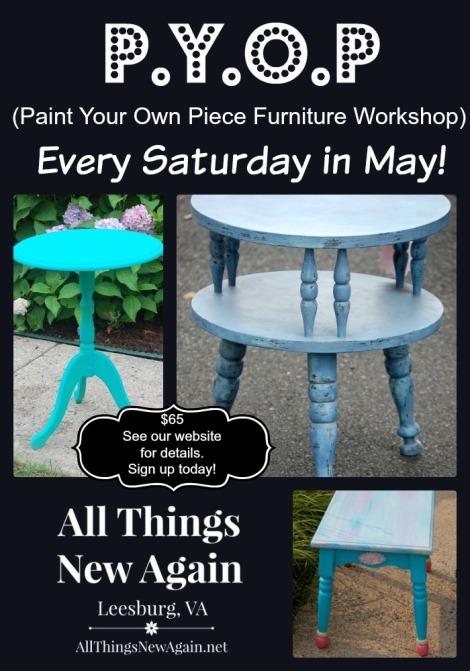 Paint Your Own Piece Furniture Workshop