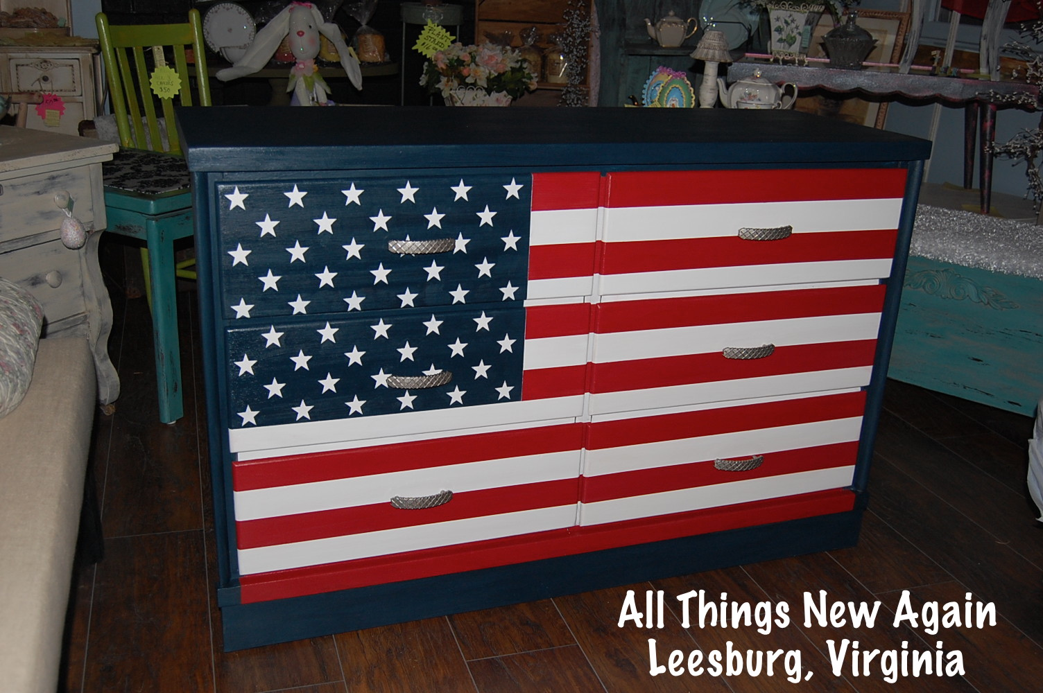 Beautiful Transforming Furniture - You're a Grand Old Flag - American Paint  GN99