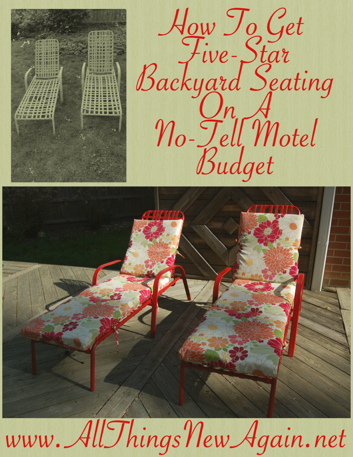 how to get five star backyard seating on a no tell motel budget