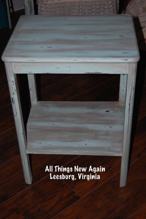 green vintage table_AllThingsNewAgain