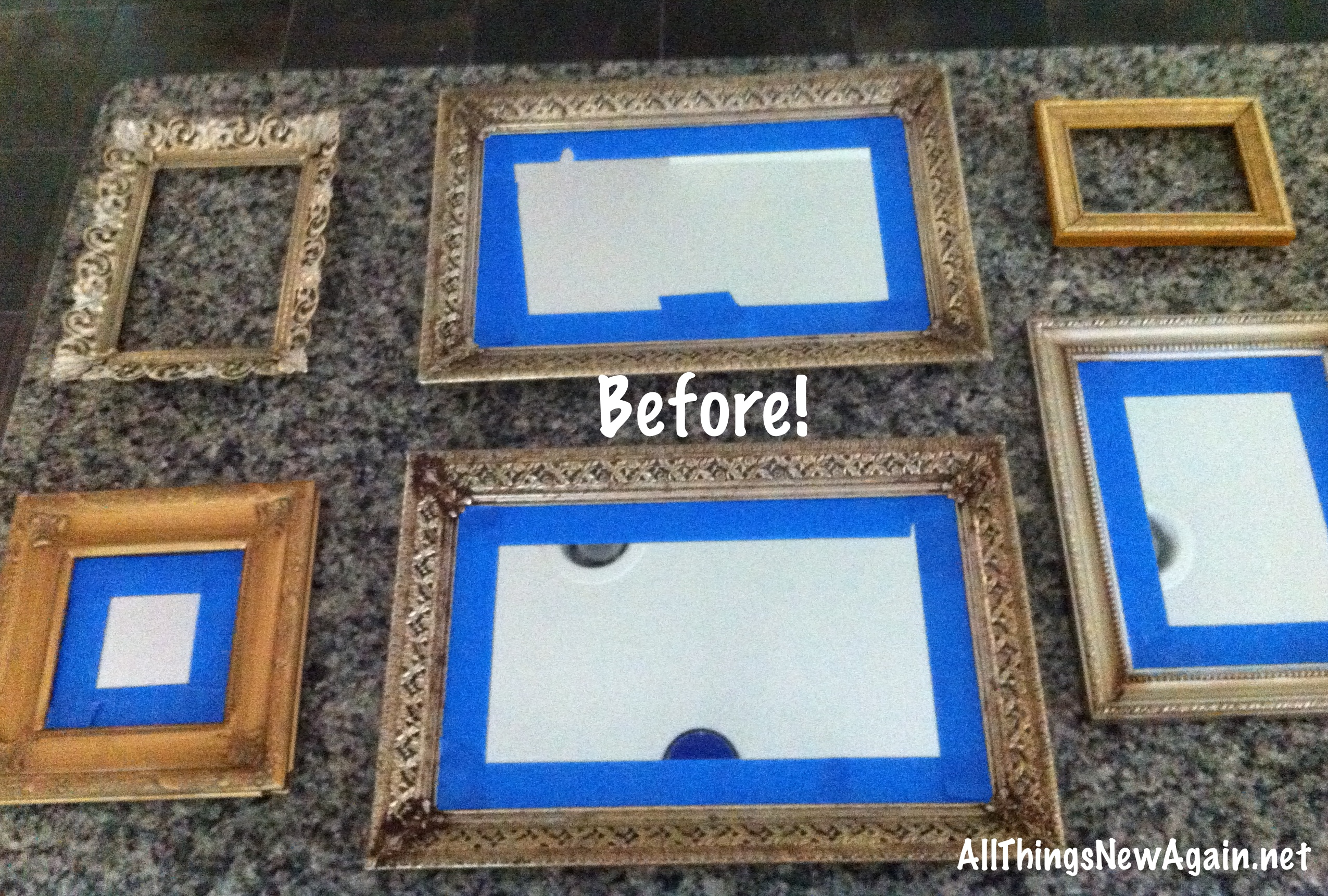 Six awesome paint transformations for ugly old frames and mirrors framesbeforeshot jeuxipadfo Images