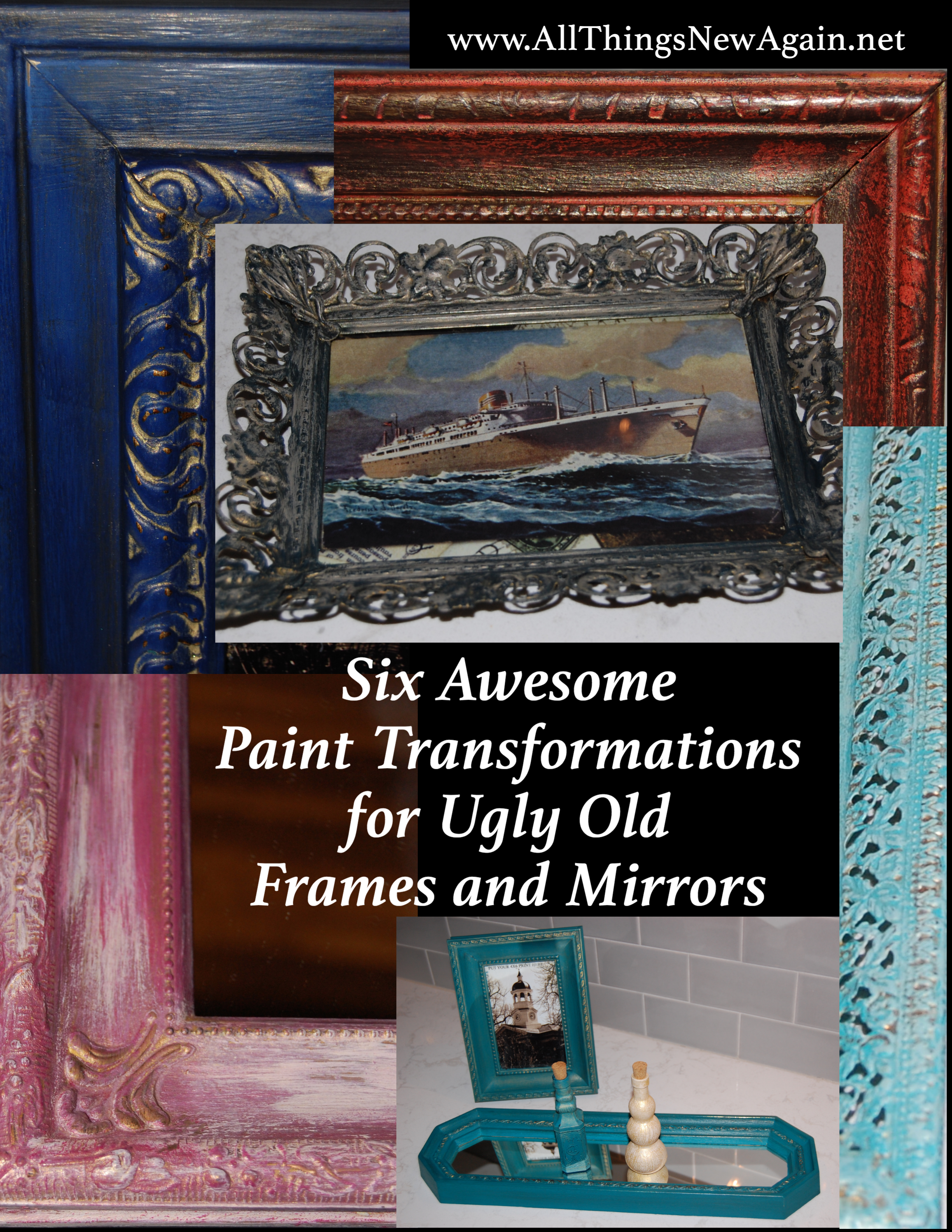 Six Awesome Paint Transformations for Ugly Old Picture Frames and ...