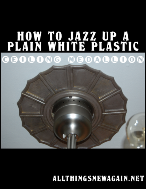How To Jazz Up A Ceiling Medallion