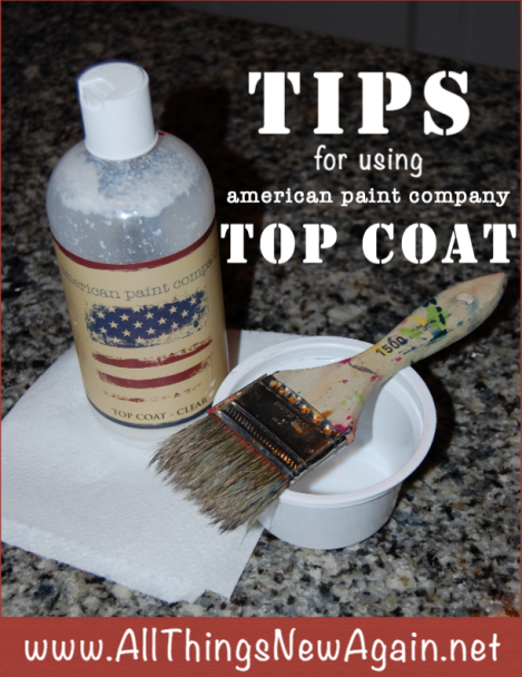Tips for Using American Paint Company Top Coat