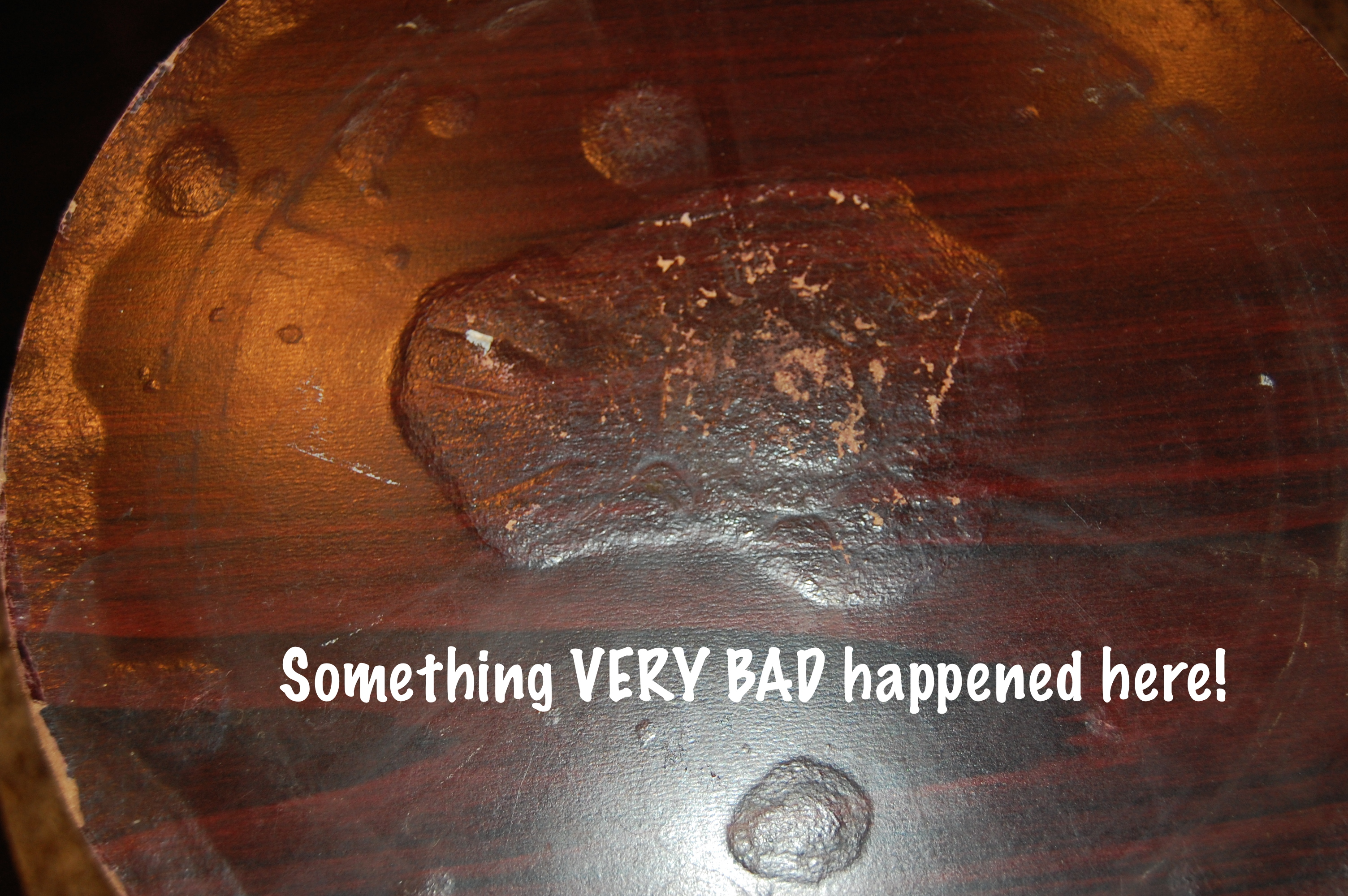 How To Fix A Wood Table Top With Water Damage Domestic
