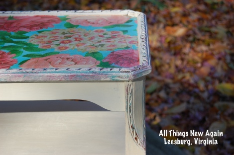 Don't Be Afraid to Decoupage Furniture! Here are our best tips.   All Things New Again