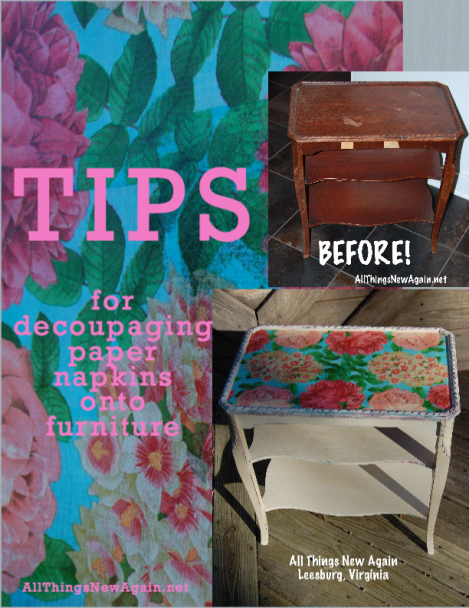 Tips_for_decoupaging_paper_napkins_onto_furniture