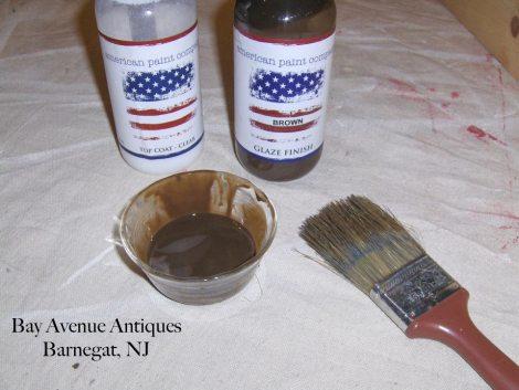 2. mix glaze and top coat