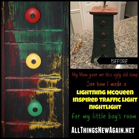 Lightning McQueen Inspired Nightlight