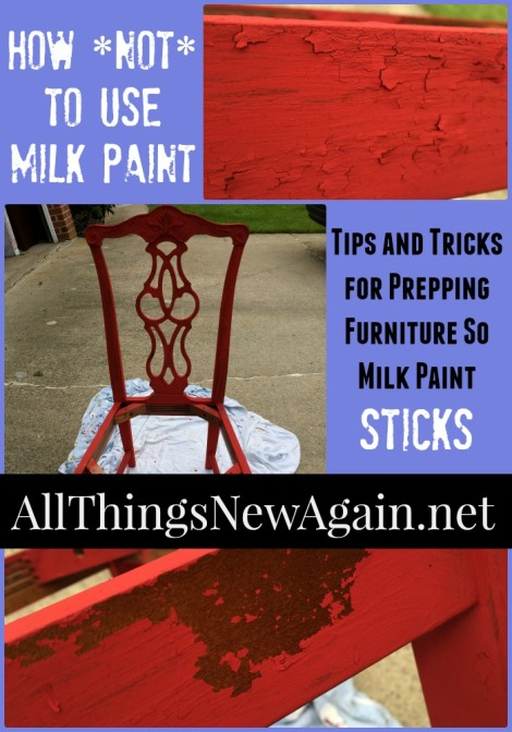 How To Prep Furniture So Milk Paint Sticks