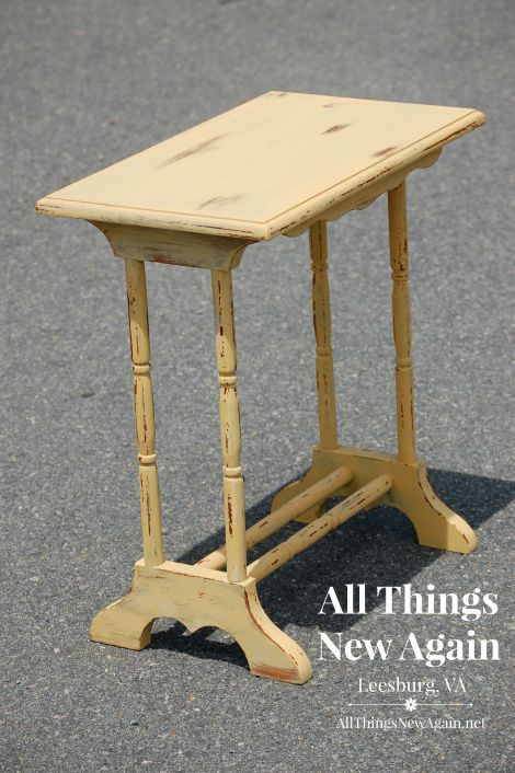 real milk paint_yellow table