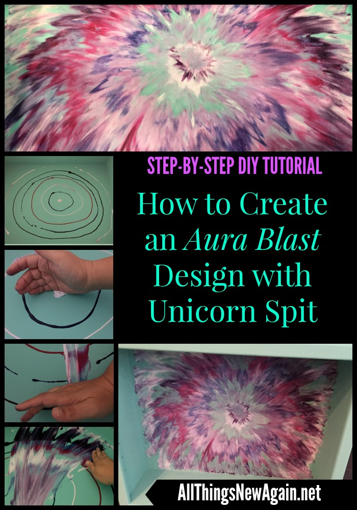 How To Create An Aura Blast Design With Unicorn Spit