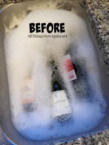 wine bottle art_before shot