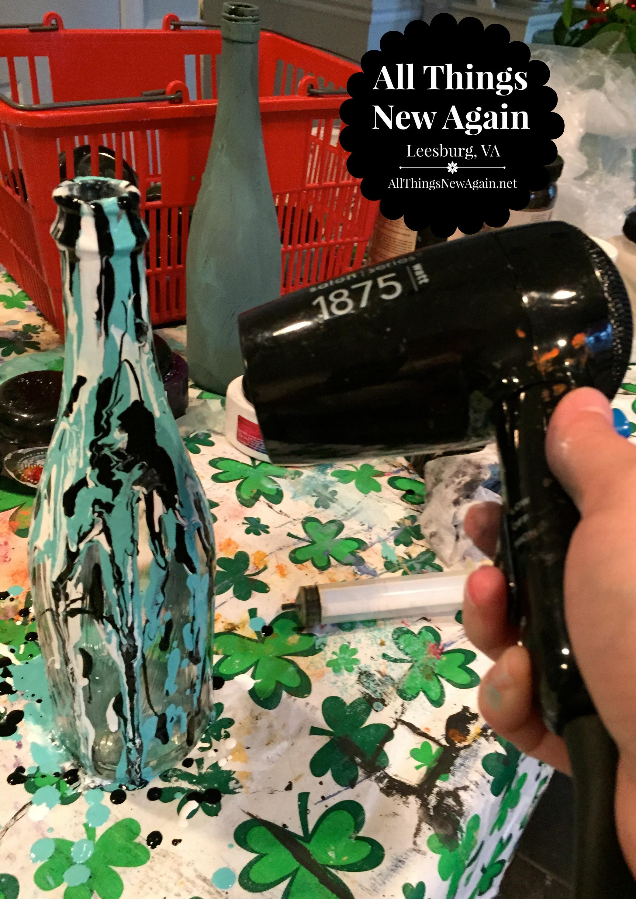Wine Bottle Art Blow Dryer