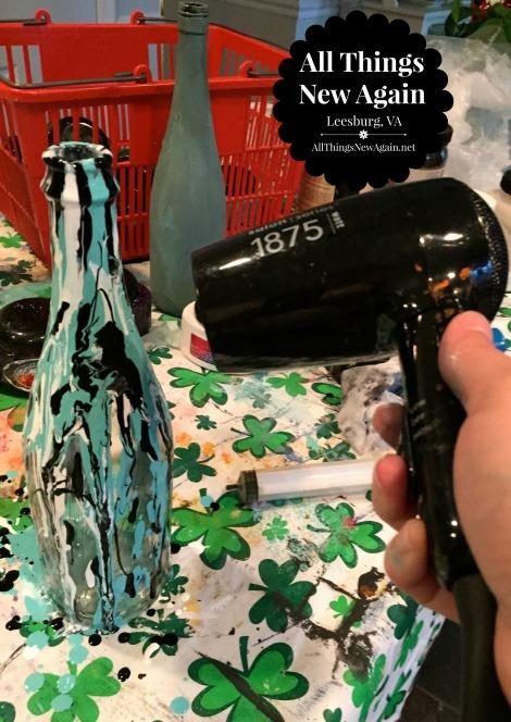 wine bottle art_blow dryer
