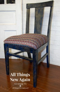 dark blue and gold boho chair_All Things New Again