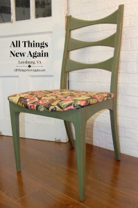 Green Chair with Fruit Fabric_All Things New Again