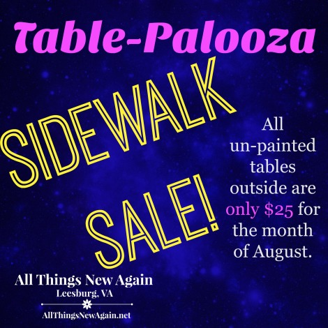Table Palooza Sidewalk Sale