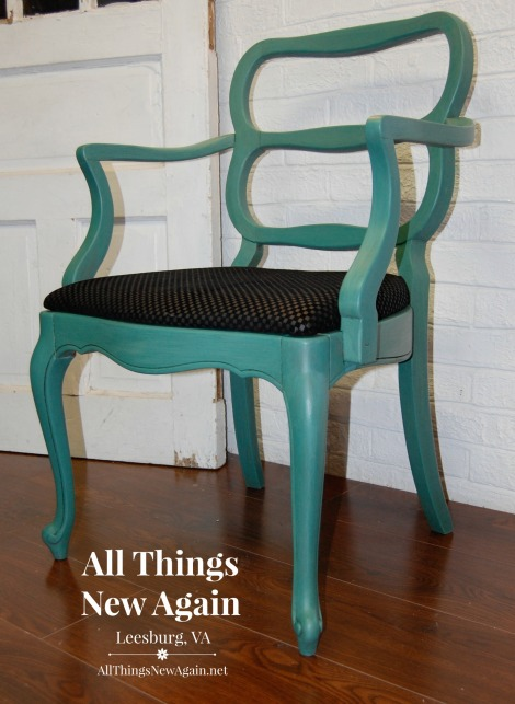 Tropical Jade Chair with Arms_All Things New Again
