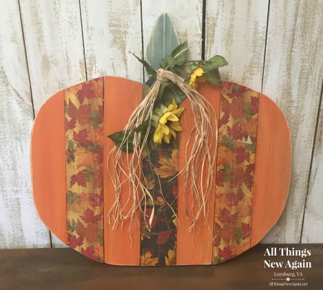 Giant Pumpkin Workshop | All Things New Again | Leesburg VA | Fall Paint Project | Decoupage