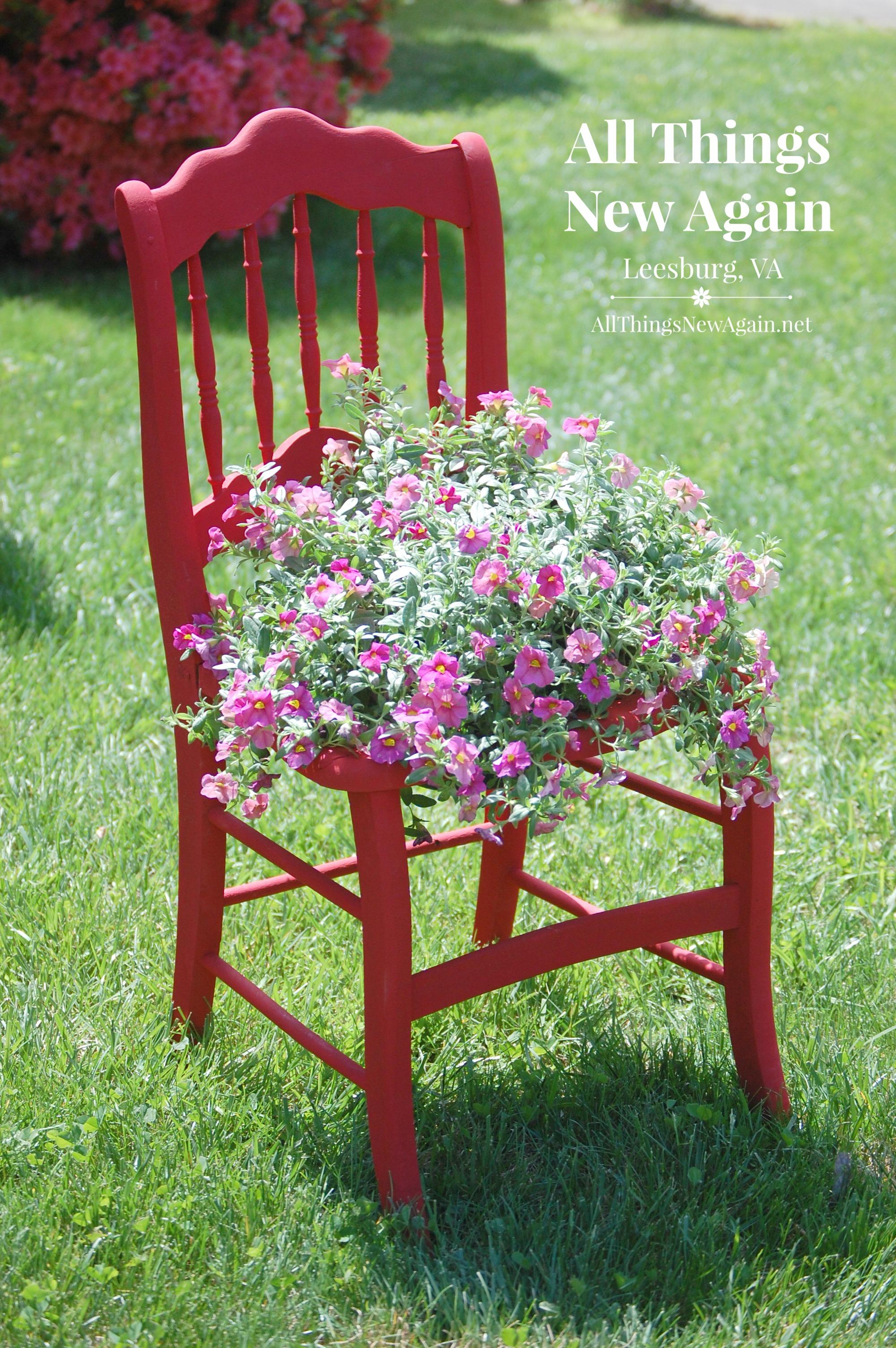 trash to treasure blog hop diy outdoor garden planter chairs