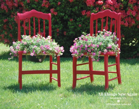 Outdoor Garden Planter Chairs | DIY Tutorial | Outdoor Furniture Decorating | Porch and Patio Furniture Ideas