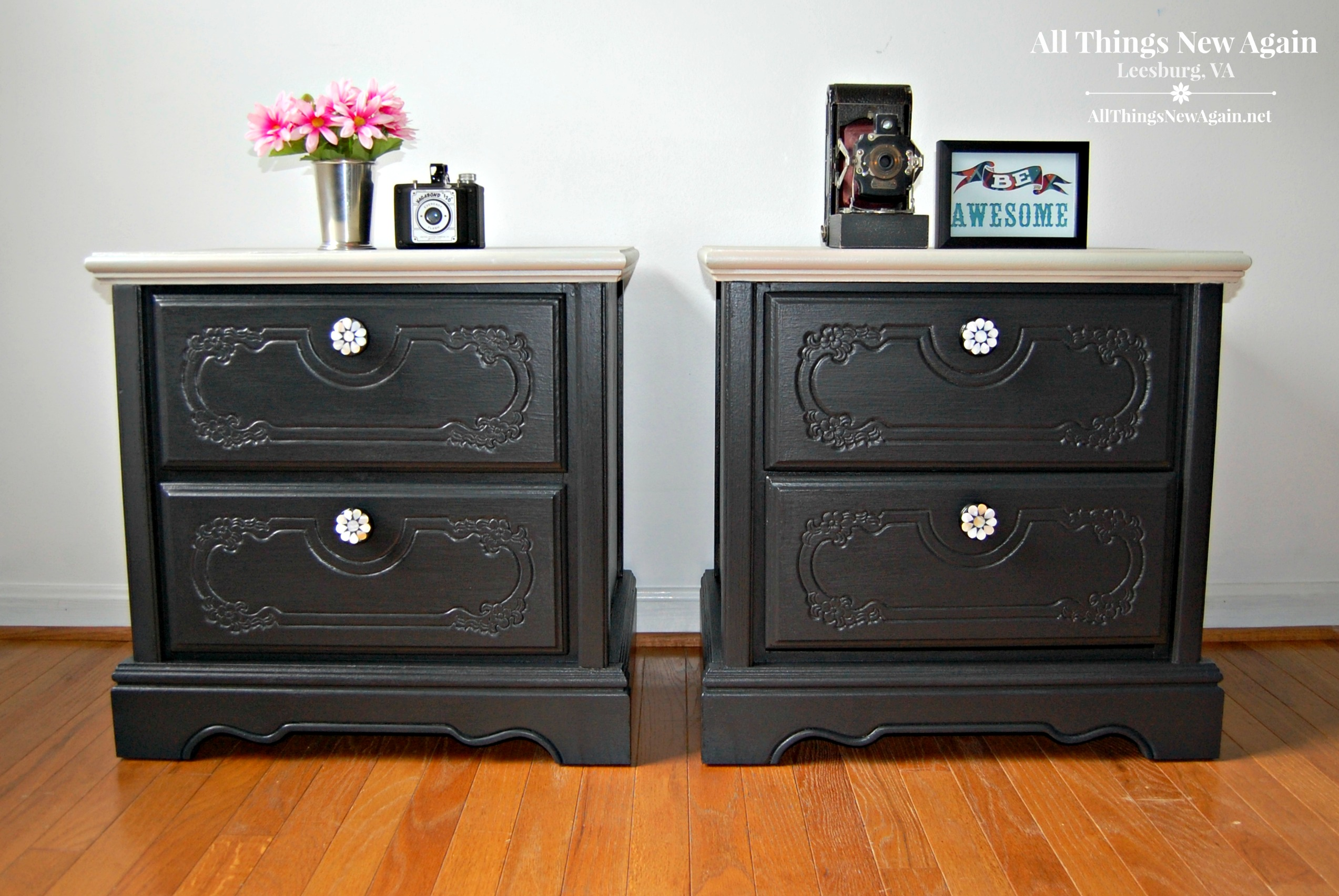 Pretty Painted Nightstands | Dixie Belle Paint | Bedroom Furniture Ideas | Painted  Furniture | Black