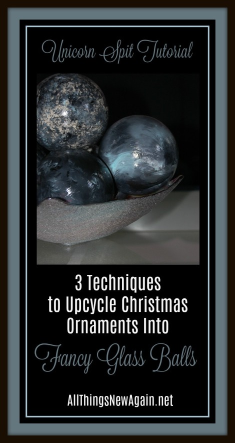 Unicorn Spit | Rainbow Gel Stain | Upcycle Christmas ornaments into home decor | DIY tutorial | glass balls