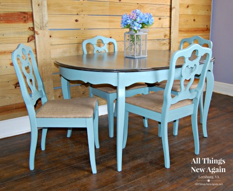 Dining Table | Dixie Belle Paint | Vintage Duck Egg | Painted Furniture | All Things New Again