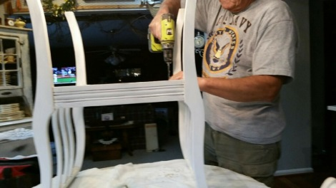 Painted Furniture Makeover | Vintage Bench | How to Re-Cover a Chair Seat