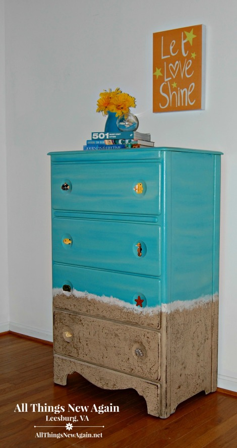 How to Paint a Beach Dresser | Beach Themed Furniture | Beach Bedroom | Dixie Belle Paint Company